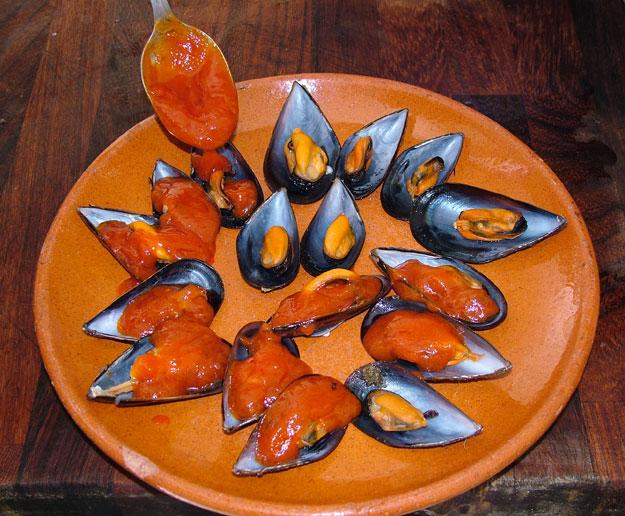 Foto de Mejillones con salsa picante especial