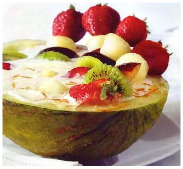 Foto de Melón relleno de frutas